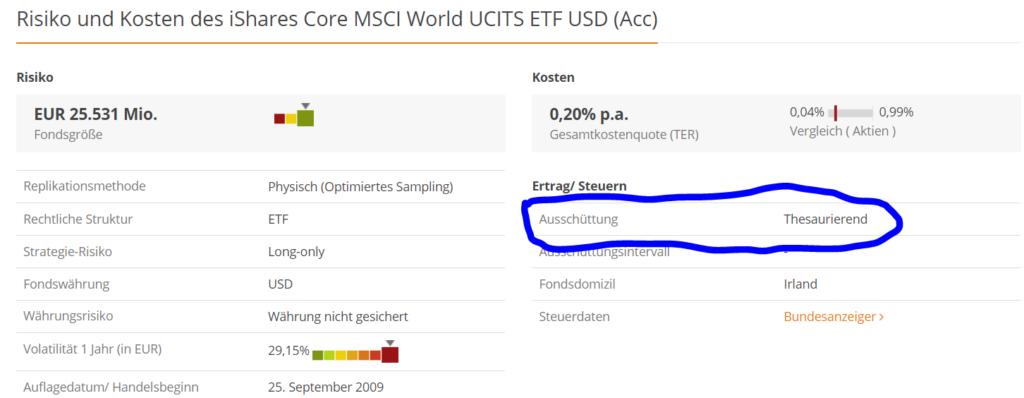 ví dụ về ETF tái đầu tư